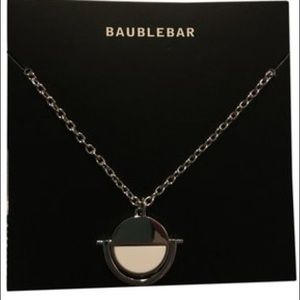Bauble bar snowflake new necklace with pouch